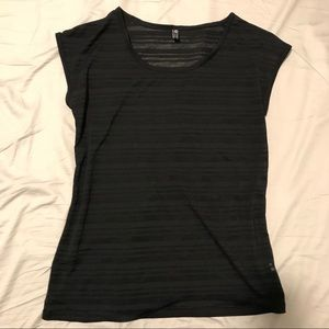 Onzie athletic top semi sheer black one size fit